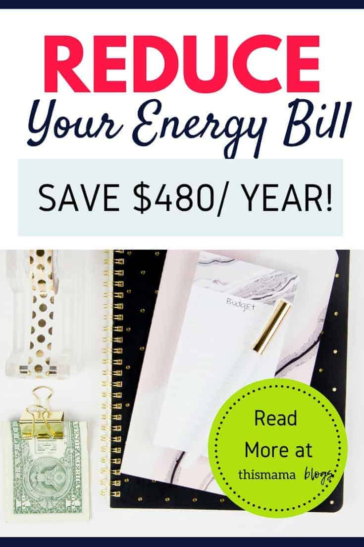 Reduce your energy bill by $40 per month without sacrificing convenience. Here are simple ways! #savemoney #moneysavingtips #lowerelectricbill #savemoneyonenergy
