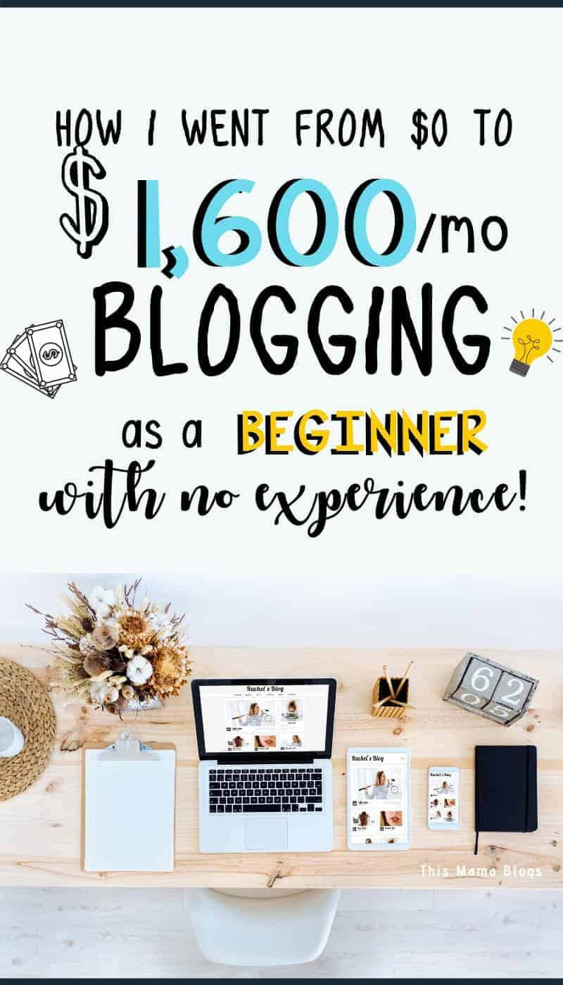 How to start a blog and make money! Check out this post to learn more about the strategies I used to grow my blog from $0 to $1600 per month as a beginner!