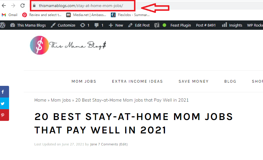 Example of URL