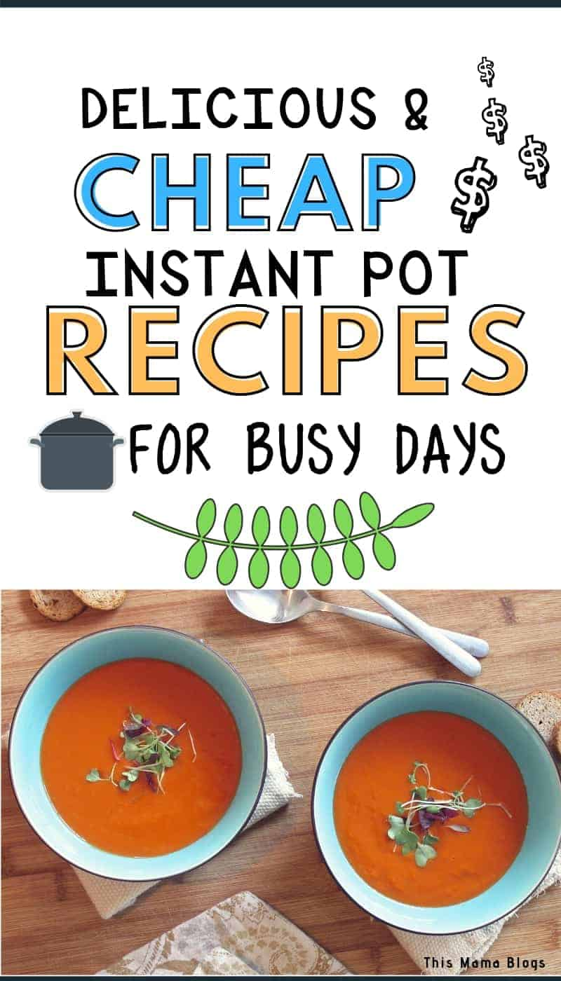 We all have our busy days. Whether that's every day or certain days during the week, sometimes making a decent, healthy and affordable meal for the family can be such a struggle. Well, it doesn't have to be with these delicious, easy to make, and money saving Instant Pot recipes! #frugalfood #budgetmeals #howtosavemoneyonfood