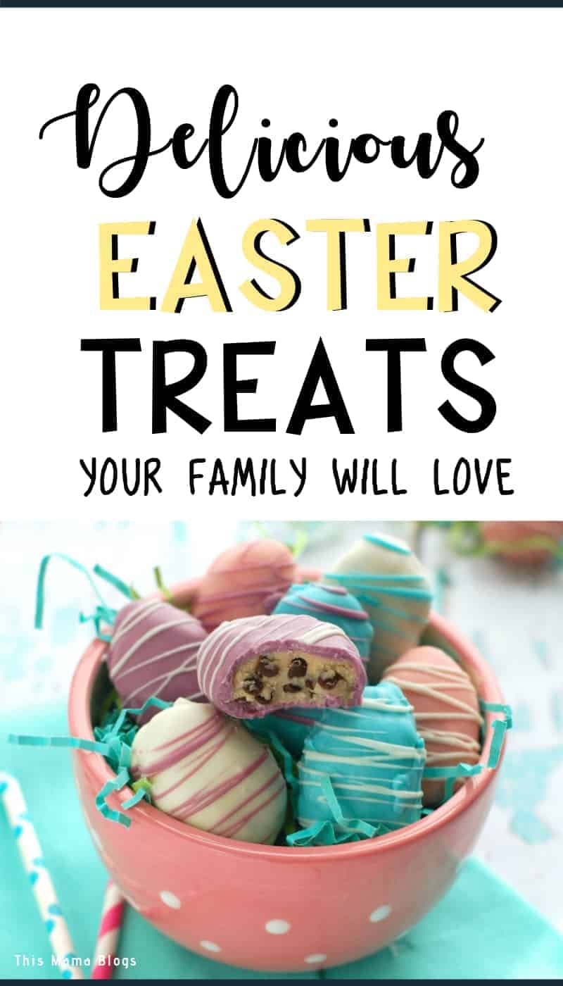 Whipping up some fun and delicious Easter dessert recipes for your family and friends will make the occasion a little more special, particularly if they can't get over how good the treats are. If you are looking for delicious, easy to make, and budget friendly Easter dessert recipes, check out this list via This Mama Blogs! #easterdesserts #eastertreats
