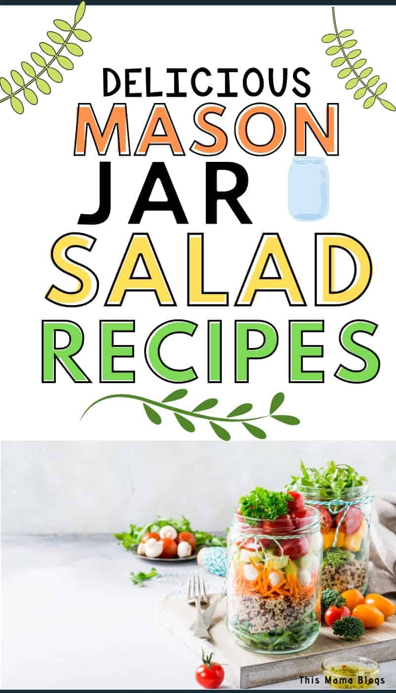Want to save time and money and eat healthy at the same time? Try making these delicious mason jar salad recipes! They are easy to make, healthy and great meal prep ideas for the busy days ahead! #mealprepping #saladrecipes
