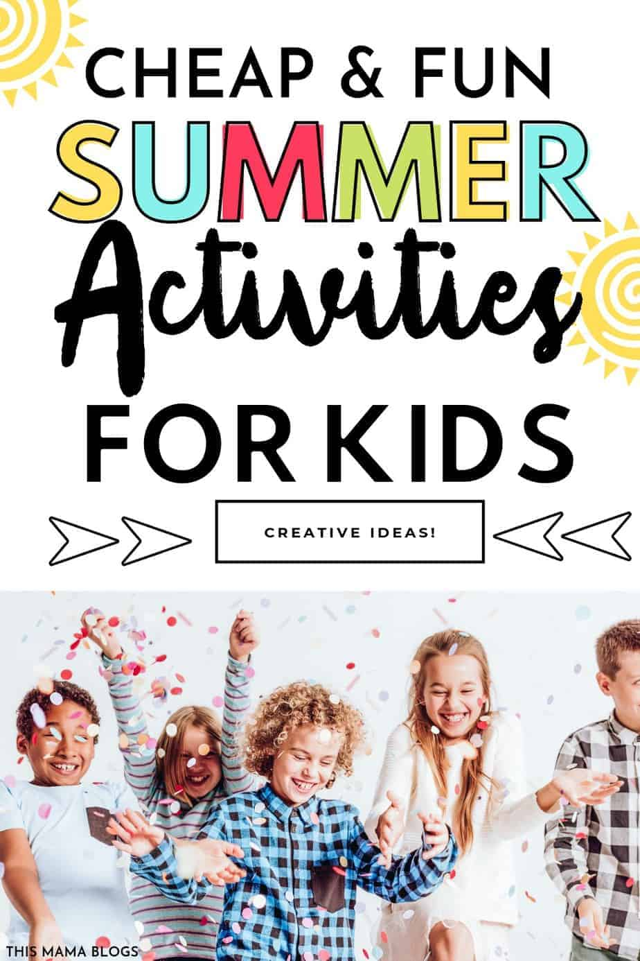 Are you racking your brains for  unique and fun summer activities for kids at home without spending a fortune? Luckily, you don't always have to pay for expensive summer camps or workshops with these simple, and fun summer activities at home. Best of all, these activities are gadget-free and will keep your kids moving and having fun without draining your bank account. #summeractivities #budget #frugalsummer #cheapsummeractivities