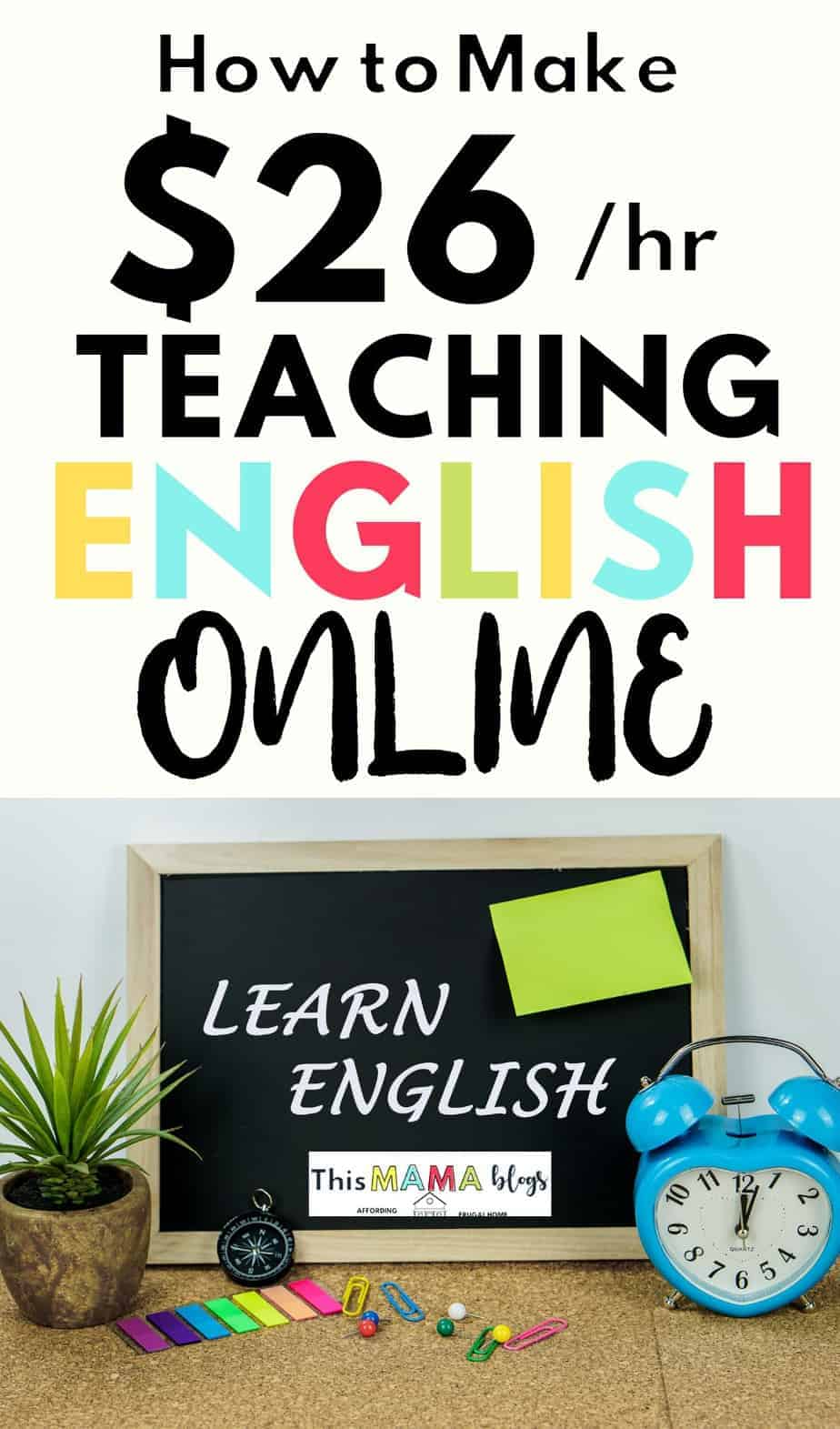 Teaching English online is a great side hustle for moms or anyone looking for a flexible work at home job. If you have small kids, you could easily sneak this side hustle into your schedule and make money while raising kids. This work at home job doesn't only pay well, it can also provide a consistent income for you! Find out how you can make money teaching English as a Second Language online! #teachingESL #workathomemomjobs