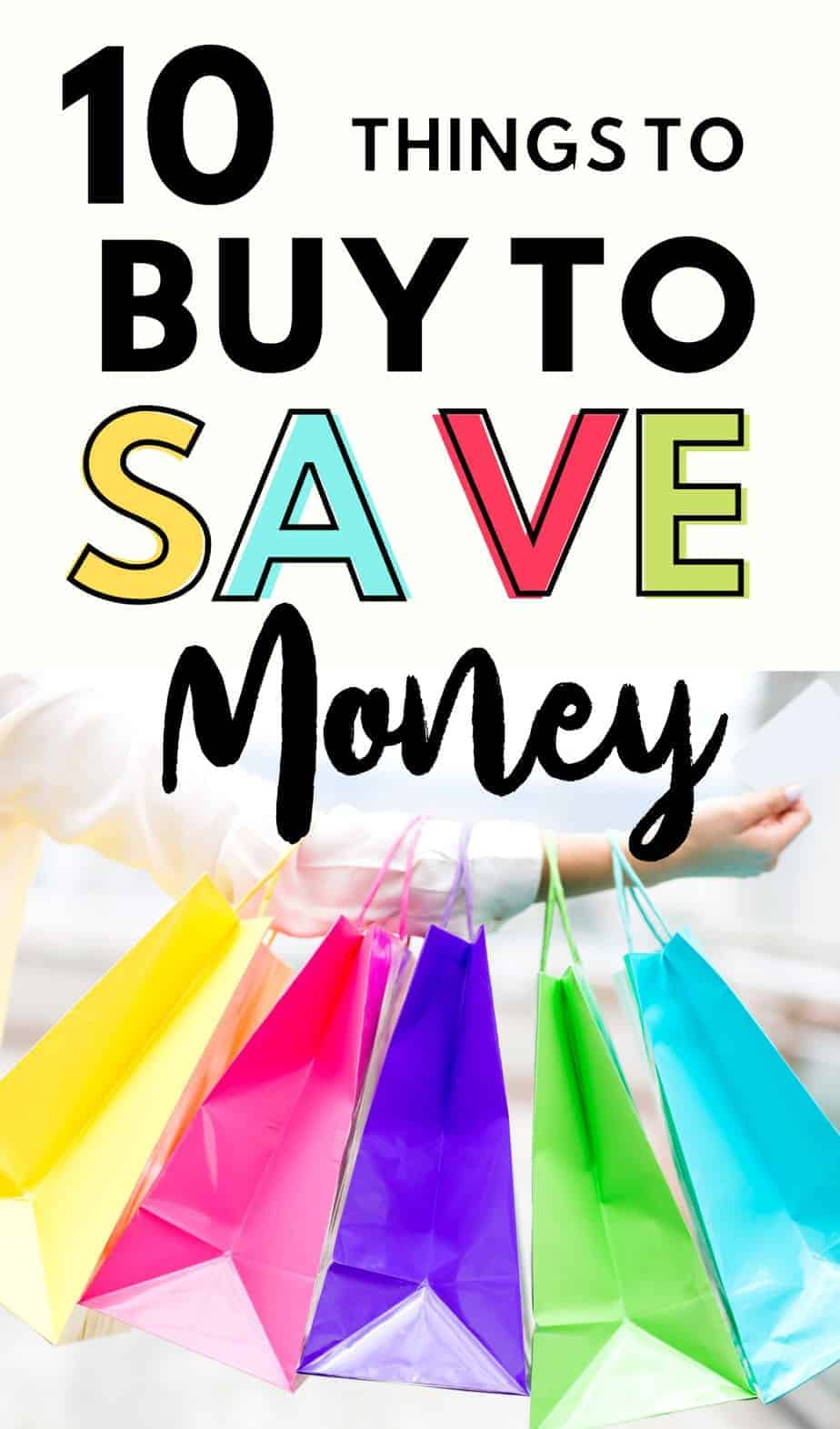 You've decided to embrace the frugal life but don't have any idea where to start and what to spend your money on? Here's my short list of things to buy to save. money. Every frugal home should have these things to save money in the long run! #frugalliving #moneysavingtips #finance