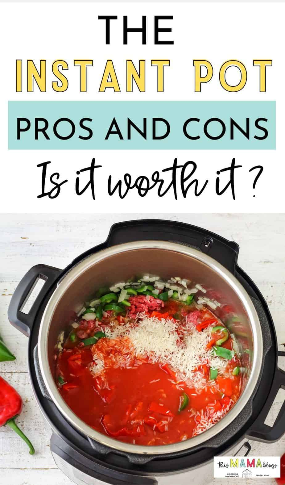 Should you buy an instant pot? Is an instant pot worth it?  What is so great about an instant pot? Read the Instant Pot pros and cons and whether it can really help you save money on food!