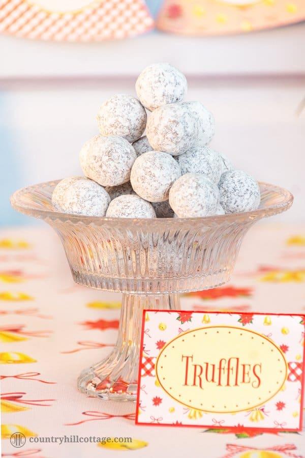 Christmas truffle recipe - ideas for Christmas dinner menu on a budget