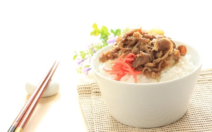 Beef on rice recipe