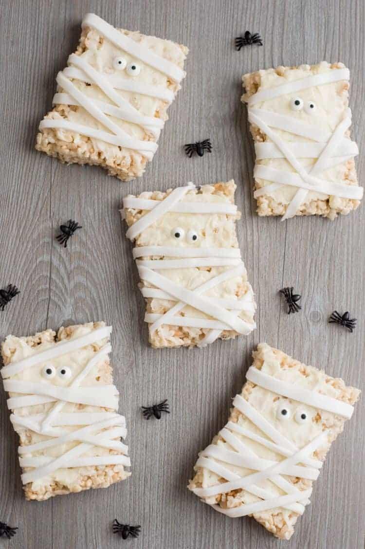 Mummy Halloween Crispy Treats